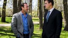 chatting: Ricky Stuart and Zed Seselja MLA