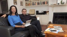 Gai Brodmann and Chris Ullman sitting on their lounge