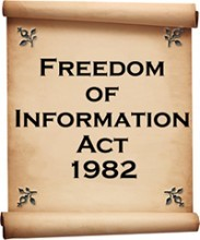 freedom of information act 1982 written on image of parchment scroll